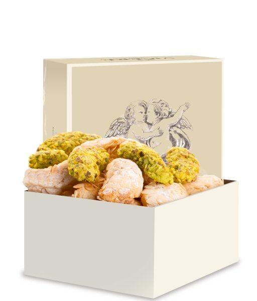 """Paste di Mandorla e Oro Verde – Scatola """"Angeli"""" 500 gr"""