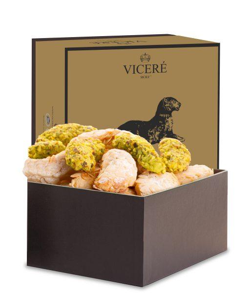 "Almond and Green Gold Pastries – Box ""Gattopardo"" 1 Kg"